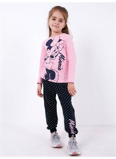 Minnie Mouse Minnie Mouse Lisanslı Çocuk Pijama Takım 18489 Pembe